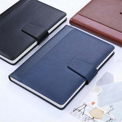 A5 Business Leather Cover Vintage Journal Notebook Lined Paper Diary Planner