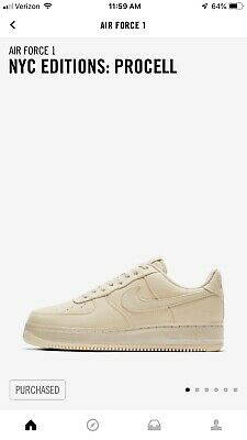 NEW NIKE AIR Force 1 Low NYC Editions Procell Men's SZ 14 QS