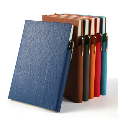 A5 Retro Leather Vintage Journal Notebook Lined Paper Diary Planner Pen Clip