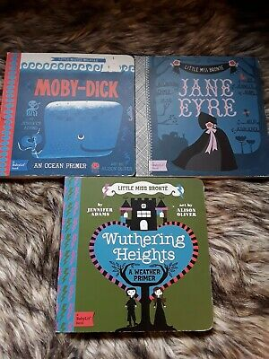 BabyLit Book Lot of 3 - Jane Eyre, Moby Dick, Wuthering Heights - Board Books