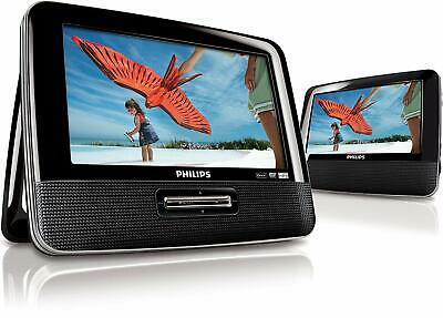 Philips PET7402D/05 Dual 7-inch Screen Portable DVD Player - Black
