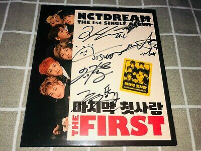 (NO PHOTOCARD) NCT DREAM AUTOGRAPH SIGNED My first and last THE FIRST ALBUM