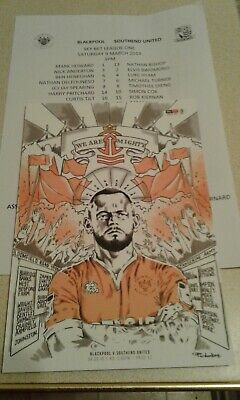 Blackpool Fc V Southend New Era 9Th March 2019 Programme (The Homecoming).