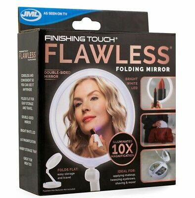 Finishing Touch Flawless Folding LED Magnifying Double-Sided Mirror