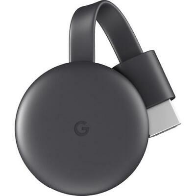 Google Chromecast (Charcoal, 3rd Gen) HDMI Media Streaming Device NEW!