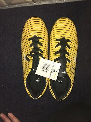 Boys Yellow Astroturf Trainers Football Boots Aldi Crane Size 2 Bnwt