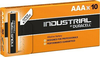10 Batterie Duracell Industrial Mini Stilo AAA 1,5V Alcaline 10 Pz Micro LR03