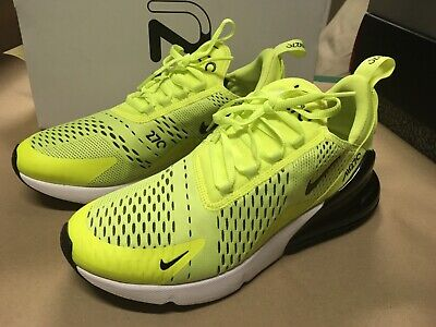 new arrival c6dae f99ee USED MENS NIKE Air Max 270 Volt Black Ah8050 701 Running Shoes Sz 8.5 Free  Ship