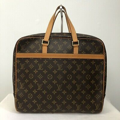 6bdd75572556 LOUIS VUITTON Monogram Documents Bag Briefcase Work Portfolio Case