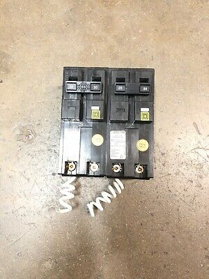 Lot Of 2 Square D Homeline Hom220Cafi 2 Pole 20 Amp 120/240V Free Shipping