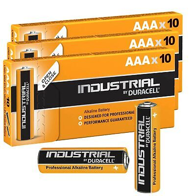 30 Batterie Duracell Industrial Mini Stilo AAA 1,5V Alcaline 30 Pz Micro LR03