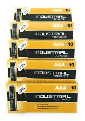 50 Batterie Duracell Industrial Mini Stilo AAA 1,5V Alcaline 50 Pz Micro LR03