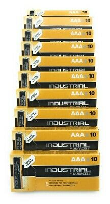 100 Batterie Duracell Industrial Mini Stilo AAA 1,5V Alcaline 100 Pz Micro LR03