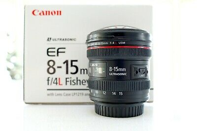 Canon EF 8-15mm f/4 L USM Lens - Mint Glass with Original Box