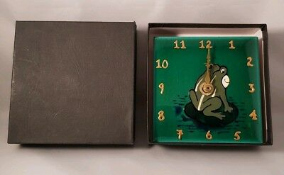 Genuine Far Thing Productions - Hand Painted Frog Clock - BNIB - RRP - £24.99
