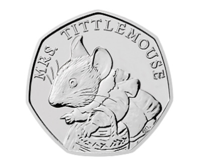 Mrs Tittlemouse - Beatrix Potter 50p Fifty Pence coin 2018