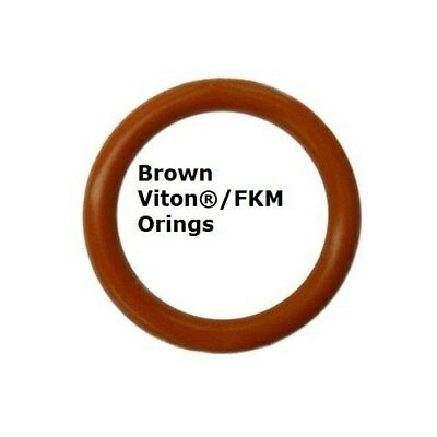 Viton Heat Resistant Brown O-rings  Size 011 Price for 50 pcs