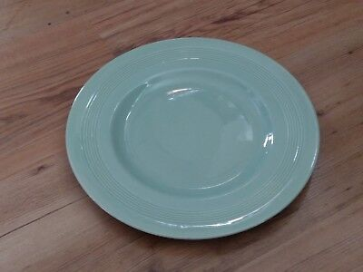 "Vintage 1940s Woods Ware Utility Ware 10"" 25cm Dinner Plate Beryl Green VGC"