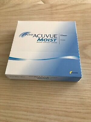 1-Day Acuvue Moist Contacts   +2.00     90 Lenses  DIA 14.2