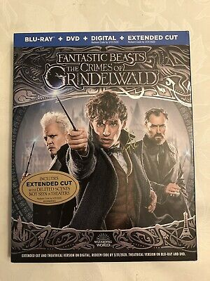 Fantastic Beasts The Crimes Of Grindelwald Blu-Ray+Dvd+Digital +Extended Cut