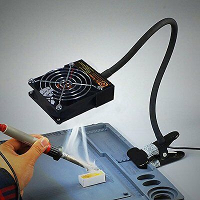 Mini Vacuum Cleaner Led Lights Suction Smoke Welding Tin Soldering Station Bench