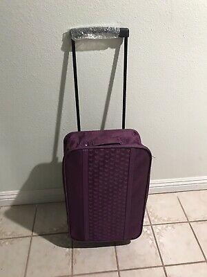 Purple Trolley Cart with Wheels and Pull Handle that Folds Down for Travel
