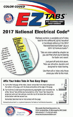 2017 Color Coded EZ Tabs for NEC Code Book NFPA - SAME DAY SHIPPING + Extras