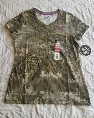 29beddbf REALTREE MAX-1 XT Camo LADIES T Shirt Small Size V-Neck New - $14.99 ...