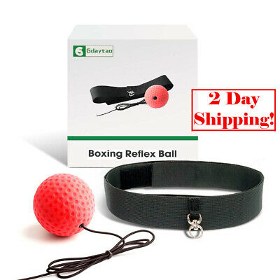 Gdaytao Boxing Reflex Ball Equipment with Headband 2 Training Speed Levels
