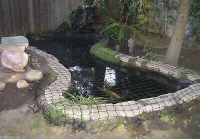 4m x 3.5m BULLNETS STRONG GARDEN FISH POND SAFETY NET & SAFE CHILD PROOF COVER