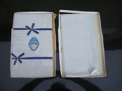 Vintage Hadson Real Damask Made in Belgium Style No. 408 Tablecloth W/4 Napkins