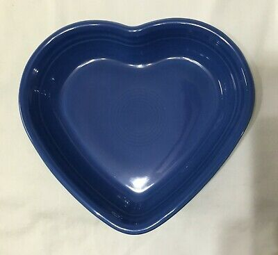 Plum And Lapis Fiesta Medium 7 1/2 Inch Heart Bowls ... New ... Never Used ...