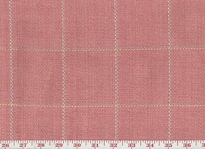 Pink Cotton Plaid Roth & Tompkins Overstock Upholstery Fabric Frazier CL Blossom