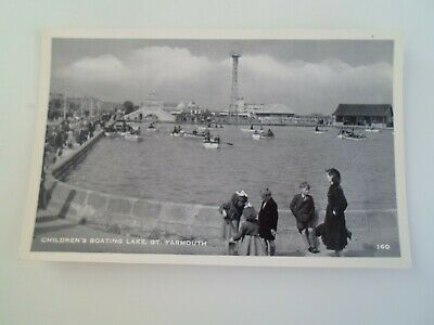 GT YARMOUTH, Children's Boating Lake (160) -  Vintage Postcard  §E518