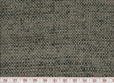 100% Silk Roth & Tompkins Overstock Heavy Upholstery Fabric Nubby CL Grey Black