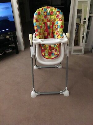 Boxed baby highchair Arc Fruity Pebble Mothercare Foldable With Instructions