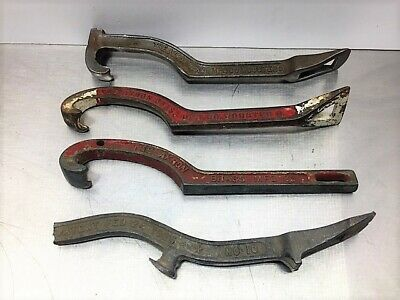 4 Antique~Fire Hydrant Spanner Wrench Lot~Vintage Akron Iron Tools #45~#42~2-#10