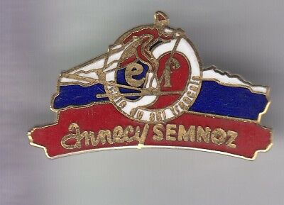 Rare Pins Pin's .. Sport Hiver Ski Skiing Club Team Esf Semnoz Annecy 74 ~D4