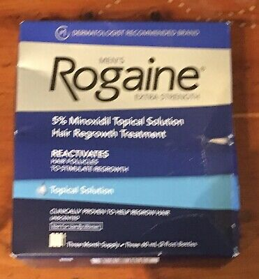 3 Months Men's Rogaine foam Extra Strength 5% Minoxidil Hair Regrowth Treatment
