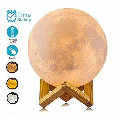 ACED 3D Printing 4.7Inch Moon Light Lamp Baby Night Light, Dimmable Color Changi