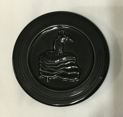 Black Fiesta Ware  6 Inch Trivet .. New ... Never Used ... With Tags ...
