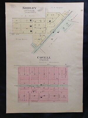 1895 McLean County Illinois Atlas Hand Colored Map Dale Township Shirley Covell