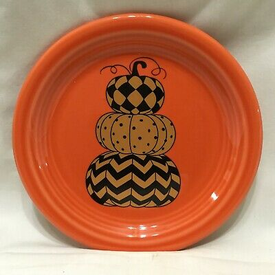 Set Of Three Fiesta Ware 6 1/2 Inch Appetizer Plates .. New With Tags Never Used