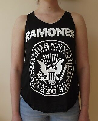 WOMENS PUNK TANK TOP RAMONES ROCK ROLL HIGHSCHOOL AMERICAN PINHEAD CBGBs S-2XL