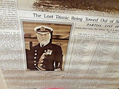 """Titanic Sinks 1912 New York Times News Front Page POSTER Photo Large 24 x 35"""""""