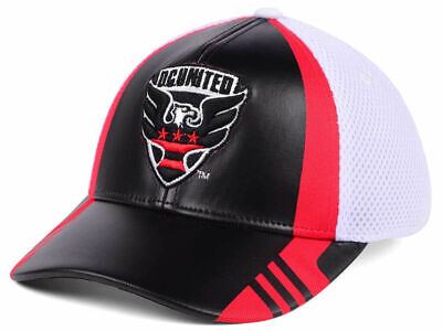 91453107aab DC United NEW adidas MLS Authentic Team Flex Fashion Cap Hat 879380 S M  28