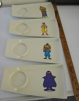 5= 4+1 BIG SALE: 4 Vintage MCDONALD'S Happy Meal Tray+ McDonald's Baseball Cap