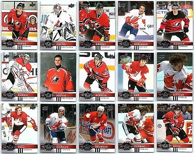 2017-18 UPPER DECK CANADIAN TIRE TEAM CANADA COMPLETE 100 Card Base Set Mcdavid