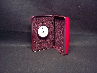 "STARRETT NO. 643 DIAL DEPTH GAGE .0005 Grad, .125"" Range w/case."