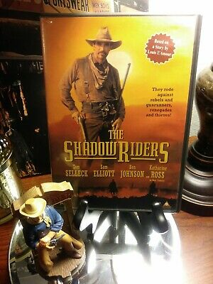 THE SHADOW RIDERS DVD - Tom Selleck & Sam Elliott - Louis L'amour - Excellent